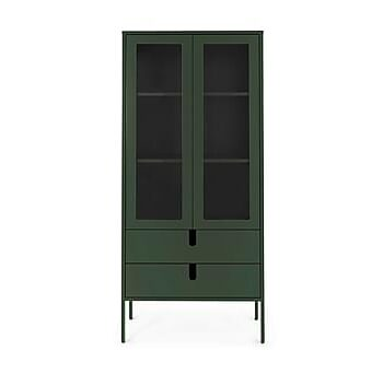 UNO Vitrinskåp 76x40 cm Grön, Vitrinskåp