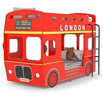 Våningssäng London Bus röd MDF 90x200 cm, Våningssängar