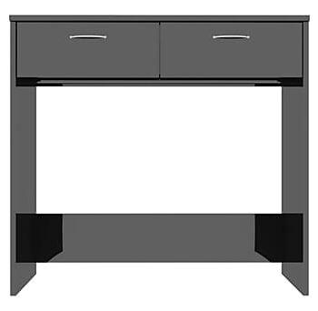 Skrivbord svart högglans 80x40x75 cm spånskiva, Datorbord