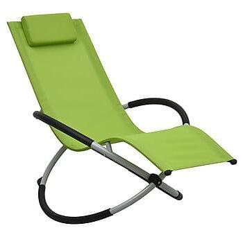 Solstol för barn stål grön, Solstol