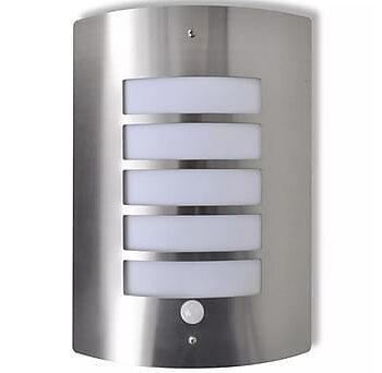 Vägglampa med rörelsesensor E27 rostfritt stål, Vägglampor