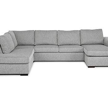 CONNECT U-soffa Large med Divan Höger Ljusgrå, U-soffor