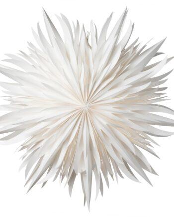 Eldig julstjärna Ø52 cm vit