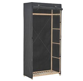 Garderob 79x40x170 cm grå tyg, Garderober
