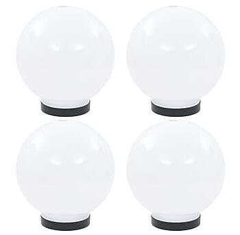 Globlampor 4 st LED sfäriska 20 cm PMMA, Utomhusbelysning