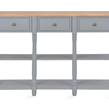 Konsollbord grå 120x30x76 cm MDF, Avlastningsbord