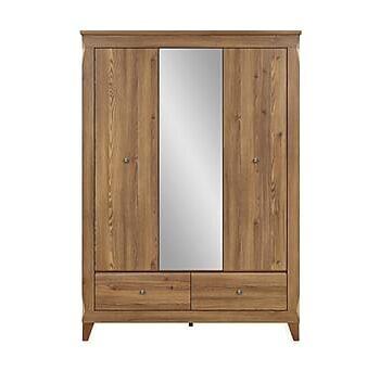 LJUSNE Garderob med spegel, Garderober