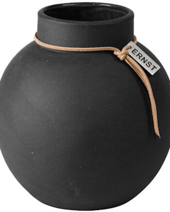 Rund Vas Stengods 14 cm