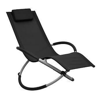 Solstol för barn stål svart, Solstol