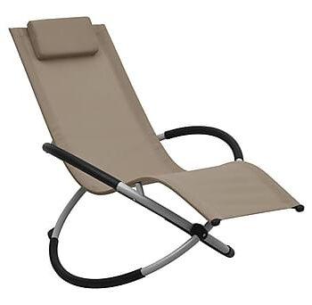 Solstol för barn stål taupe, Solstol