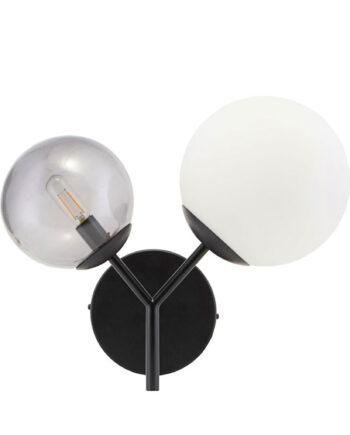 Vägglampa Twice, 50 cm, Svart
