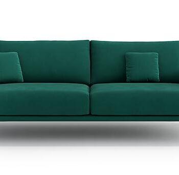 CLEANE 3-sits Soffa Sammet/Grön, 3-sits soffor