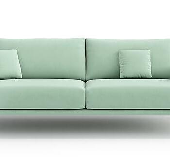 CLEANE 3-sits Soffa Sammet/Ljusgrön, 3-sits soffor
