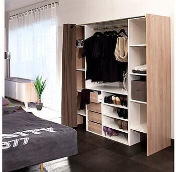 IMAKA Garderobssystem Natur/Vit, Garderober