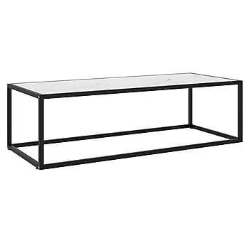 Soffbord med vit marmor glas 120x50x35 cm, Soffbord