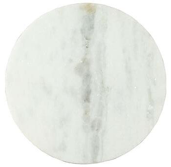 Soffbord vit och svart Ã?50 cm massiv äkta marmor, Soffbord