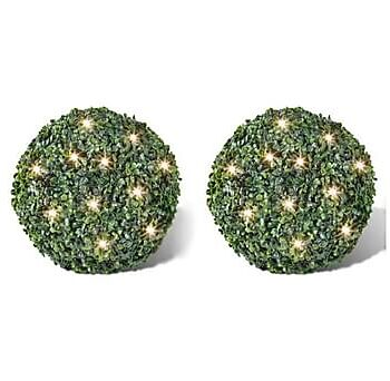 Trädgårdsbelysning Buxbomboll 35 cm Solcell 2-pack, Julpynt & juldekoration