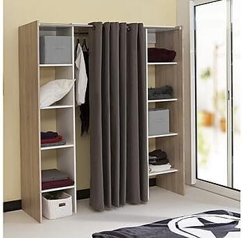 VASTERI Garderobssystem Natur/Vit, Garderober