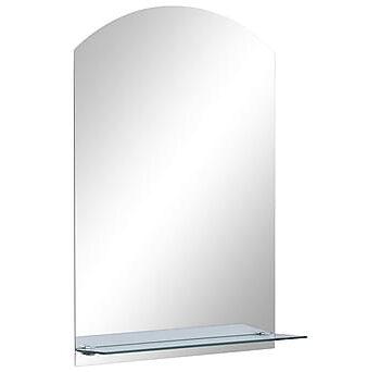 Väggspegel med hylla 40x60 cm härdat glas, Speglar